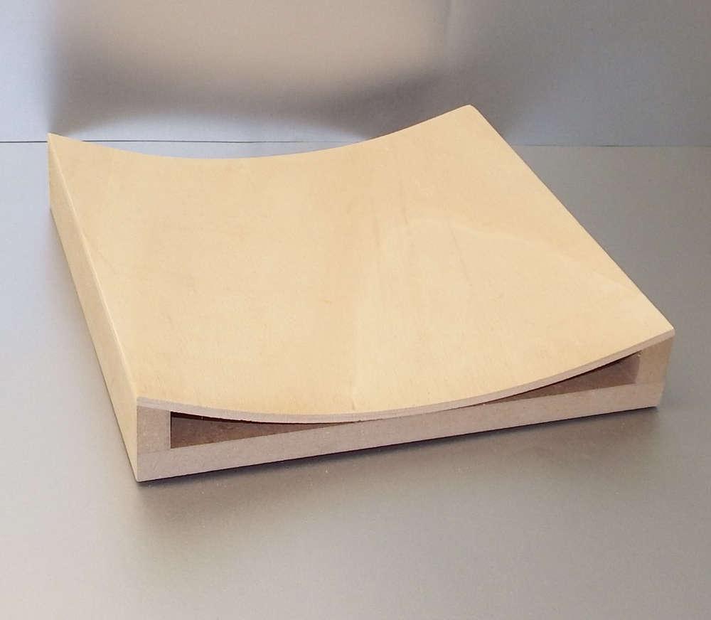 Konkav gebogene Sperrholzplatte, Künstler Programm - Kunstwerkstatt ...